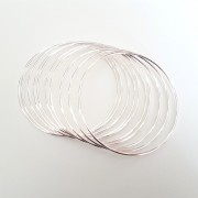 silver ringar 10 st