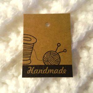"""Etiketter & Tags av Papper - """"Handmade"""""""