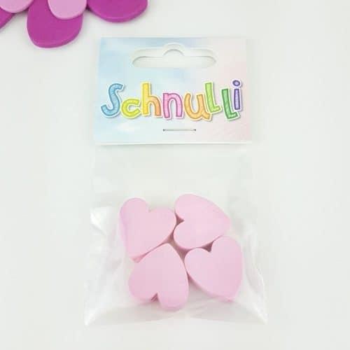 Träpärlor Hjärtan / Stjärnor/ Blomma Schnulli