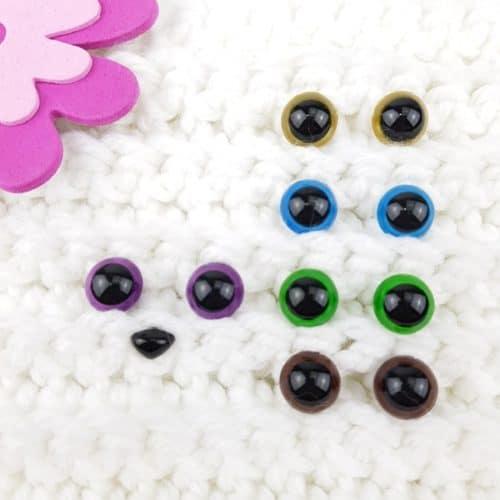Säkerhetsögon alla Färger 12 mm