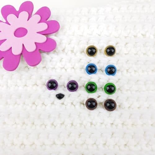 Säkerhetsögon alla Färger 8 mm