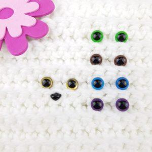 Säkerhetsögon alla Färger 10 mm
