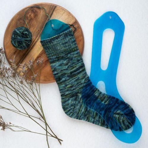 Knitpro Sockblockare blå Aqua Sock Blocker