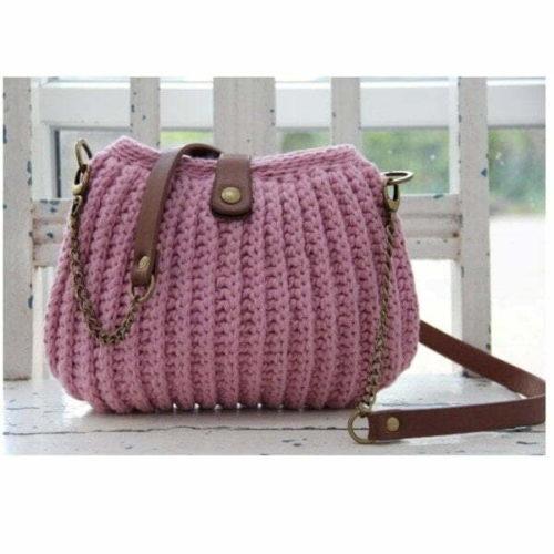 Lilla Ribb Stitch Väskan Rosa